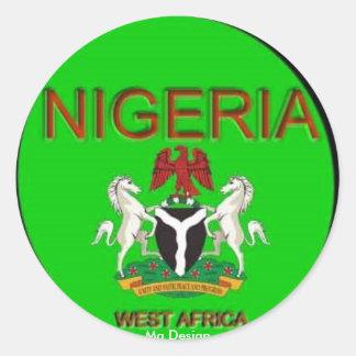 Pegatina de las ÁFRICAS OCCIDENTALES de NIGERIA