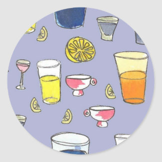 Pegatina de las bebidas mezcladas