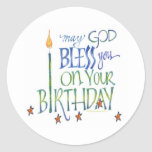 Pegatina de las bendiciones del cumpleaños