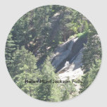 Pegatina de las caídas de Helen Hunt Jackson
