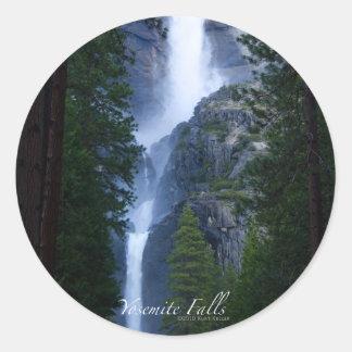 Pegatina de las cataratas de Yosemite