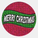 Pegatina de las Felices Navidad 2