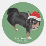 Pegatina de las Felices Navidad de la chihuahua