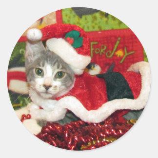 Pegatina de las Felices Navidad de la chuleta de