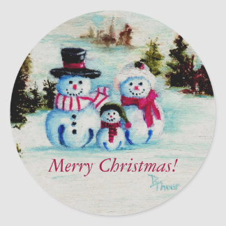 Pegatina de las Felices Navidad de la familia del