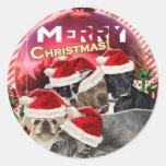 Pegatina de las Felices Navidad (edición del perro