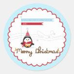 Pegatina de las Felices Navidad/primero de la