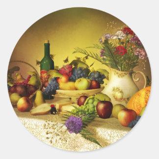 Pegatina de las flores y de la fruta 2