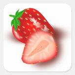Pegatina de las fresas