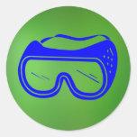 Pegatina de las gafas de seguridad