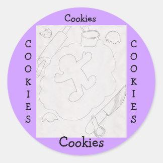 Pegatina de las galletas