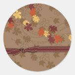 Pegatina de las hojas de otoño