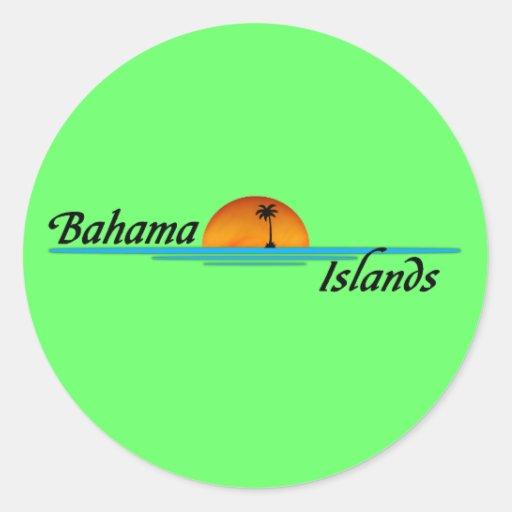 Pegatina de las islas de Bahama