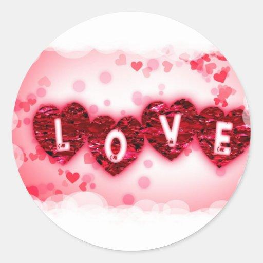 Pegatina de las letras de amor