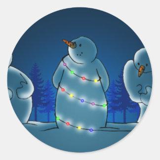 Pegatina de las luces de navidad