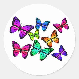 Pegatina de las mariposas