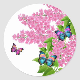 Pegatina de las mariposas de la primavera