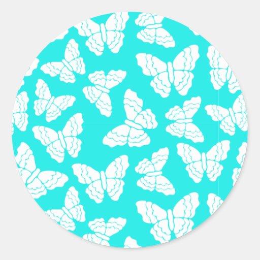 Pegatina de las mariposas de la turquesa