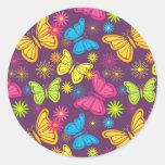 Pegatina de las mariposas del verano