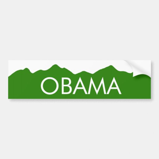 Pegatina de las montañas de Colorado Obama Pegatina De Parachoque