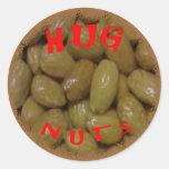 Pegatina de las nueces del abrazo