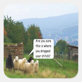 Pegatina de las ovejas de la puntada del descenso