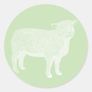 Pegatina de las ovejas del cordero