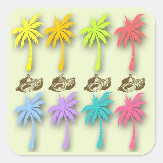 Pegatina de las palmeras del verano