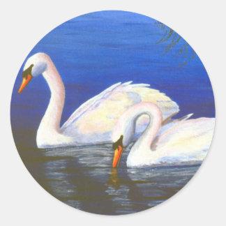 Pegatina de las reflexiones del cisne