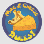 Pegatina de las reglas del mac y del queso