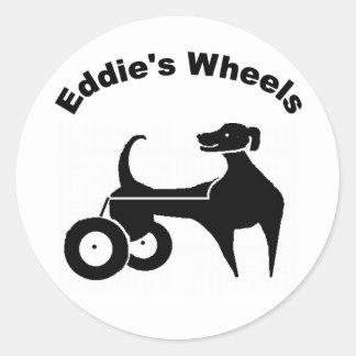 Pegatina de las ruedas de Eddie pequeño