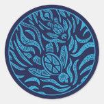 Pegatina de las tortugas de mar de la familia del