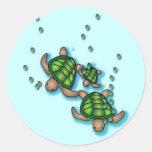 Pegatina de las tortugas de mar profundo