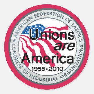 Pegatina de las uniones del Día del Trabajo