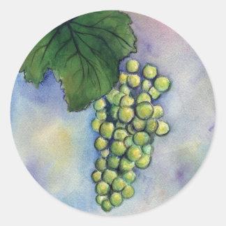 Pegatina de las uvas de vino de Chardonnay