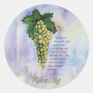 Pegatina de las uvas de vino de Riesling