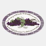 Pegatina de las uvas del verso de la biblia del 15