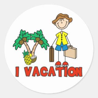 Pegatina de las vacaciones del muchacho I