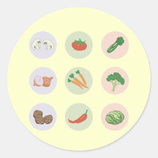 Pegatina de las verduras