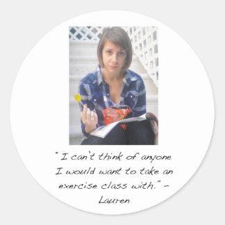 Pegatina de Lauren