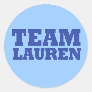 Pegatina de Lauren del equipo