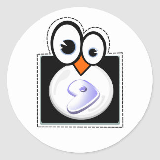 Pegatina de Linux Penquin Gentoo