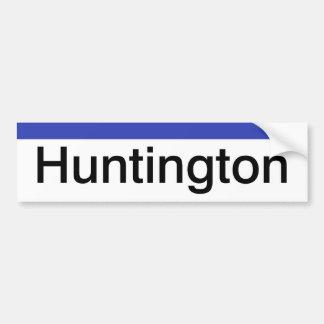 Pegatina de LIRR Huntington Etiqueta De Parachoque