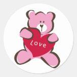 pegatina de los abrazos de oso - dulce