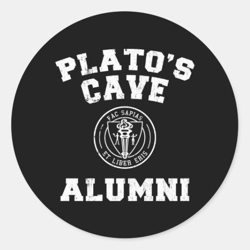 Pegatina de los alumnos de la cueva de Platón