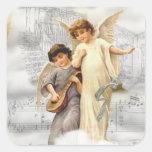 Pegatina de los ángeles del navidad del vintage