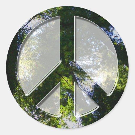 Pegatina de los árboles de la paz
