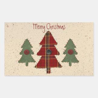 Pegatina de los árboles de navidad del país