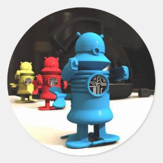 Pegatina de los ayudantes del robot del juguete de