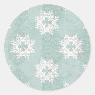 Pegatina de los azules claros del copo de nieve